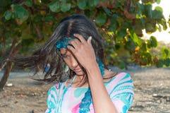 Доминиканский портрет девушки стоковая фотография rf
