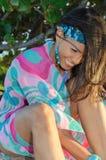 Доминиканский портрет девушки стоковые изображения