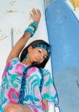 Доминиканский портрет девушки стоковое изображение rf