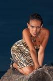 Доминиканский портрет девушки стоковое изображение