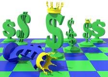 Доминирование символа доллара над символом евро Стоковая Фотография RF