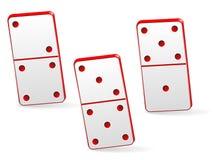 Домино игры 3 значка Стоковые Изображения RF