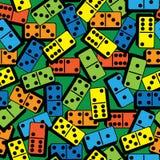 Домино цвета безшовной картины Стоковое Изображение RF