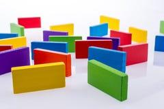 Домино цвета Стоковая Фотография RF