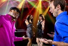 Домогательство на ночном клубе стоковое фото rf