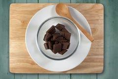 Домодельная варя концепция Прерванный шоколад подготавливает для печь Стоковое Изображение