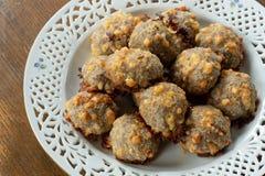 Домодельная еда, шарики мяса стоковая фотография rf