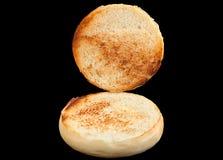 Домодельная плюшка гамбургера Стоковая Фотография