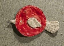 Домодельная птица глины Стоковое фото RF
