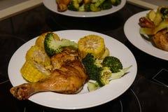Домодельное барбекю куриной грудки стоковое фото rf