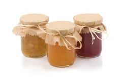 домодельное варенье jars 3 стоковые фотографии rf