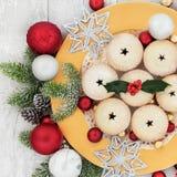 Домодельное рождество семенит пироги Стоковое фото RF