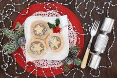 Домодельное рождество семенит пироги Стоковые Изображения RF