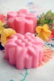 Домодельное розовое мыло Стоковые Изображения RF