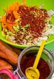 Домодельное kimchi в фото еды опарника Стоковое Изображение RF