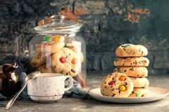 Домодельной печенья покрытые конфетой Стоковая Фотография RF