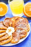 Домодельные блинчики тыквы с апельсином стоковое изображение