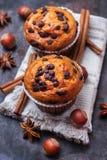 Домодельные булочки обломока шоколада пряные испекут для завтрака Стоковые Изображения RF