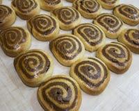 Домодельные двойные печенья цвета Стоковые Изображения