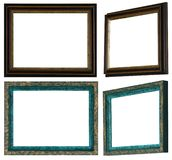 Домодельные и покрашенные вручную картинные рамки стоковая фотография rf