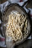 Домодельные макаронные изделия pici Стоковая Фотография
