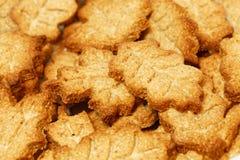 Домодельные печенья в форме листьев Стоковая Фотография RF
