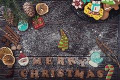 Домодельные печенья имбиря Стоковая Фотография