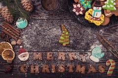 Домодельные печенья имбиря Стоковая Фотография RF