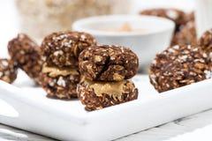 Домодельные печенья обломока шоколада овсяной каши Стоковая Фотография RF