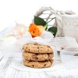 Домодельные печенья обломока шоколада стоковая фотография rf