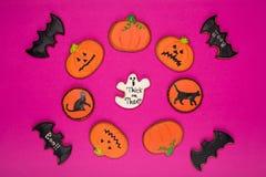 Домодельные печенья хеллоуина Стоковые Фото