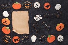 Домодельные печенья хеллоуина Стоковое Изображение