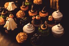 Домодельные пирожные хеллоуина Стоковое фото RF