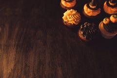 Домодельные пирожные хеллоуина Стоковые Изображения RF