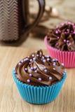 Домодельные пирожные шоколада Стоковое фото RF