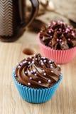 Домодельные пирожные шоколада Стоковые Фотографии RF