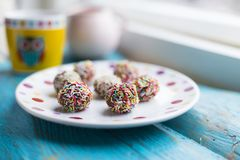 Домодельные помадки шоколада с брызгать Стоковое фото RF