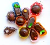 Домодельные помадки шоколада Стоковая Фотография