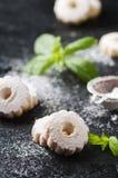 Домодельные сладостные печенья с мятой Стоковое Фото