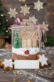Домодельные смешивание и печенья какао Стоковое фото RF