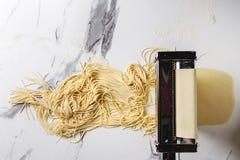 Домодельные сырые макаронные изделия Стоковое Изображение