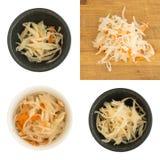 Домодельные Sauerkraut и моркови Стоковые Фото