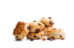 Домодельные scones султанши изолированные на белизне стоковая фотография rf