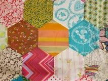 Домодельный дизайн лоскутного одеяла стоковое изображение rf
