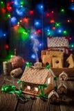 Домодельный коттедж пряника рождества в уникально месте Стоковое фото RF