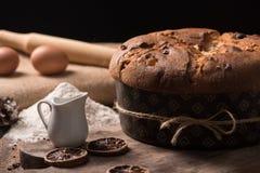 Домодельный кулич итальянка рождества торта Стоковое Изображение RF