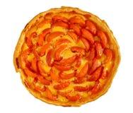Домодельный пирог абрикоса изолированный на белизне Стоковое Изображение