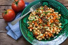 Домодельный салат нутов Стоковое Изображение RF