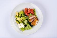 Домодельный салат фаворит среди сегодняшних здоровых сознательных людей hicken салат ffordable и хороший для еды, повышает здоров стоковая фотография