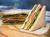Домодельный сандвич сыра ветчины для завтрака Стоковая Фотография